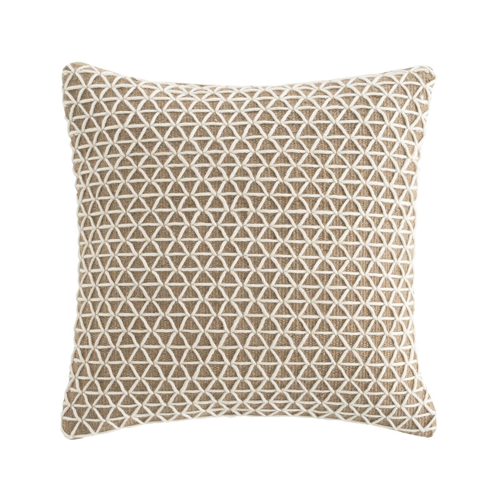 Gan Raw Collection White Square Cushion